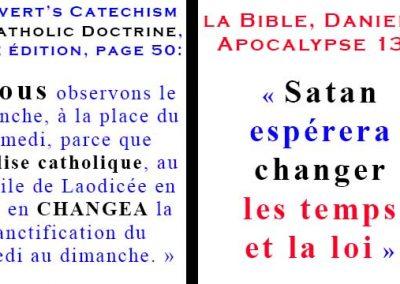 L'invention du culte catholique du dimanche face au Shabbat Biblique du samedi