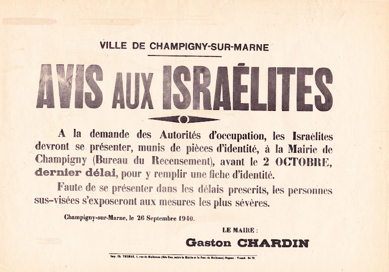 Affiche Anti juif