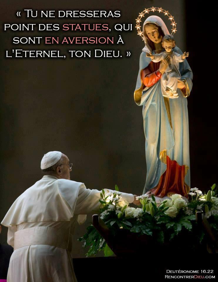 idolatrie pape francois
