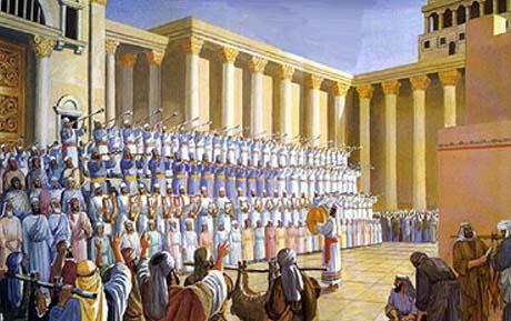 Les lévites dans le temple