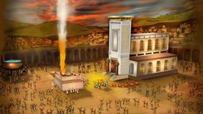 temple dieu feu sacrifice korban