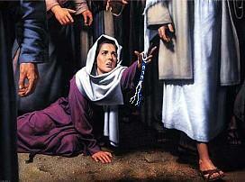 yeshoua jesus femme perte sang frange