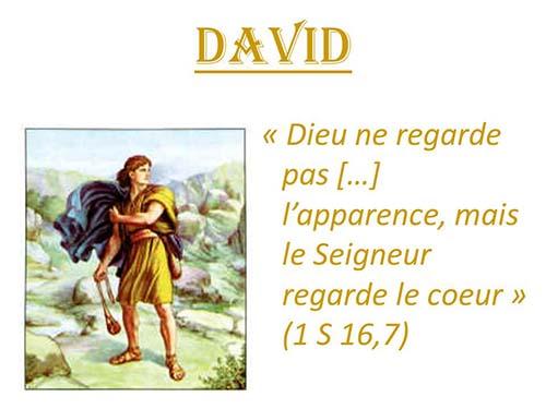 David dieu coeur apparence mod