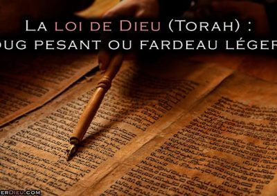La loi de Dieu : joug pesant ou fardeau léger ? Paracha Nitsavim