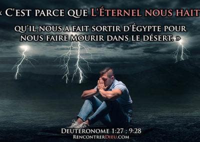 Une cause profonde d'Apostasie et de chute spirituelle : se sentir détesté par Dieu ? Un seul Médecin pour les guérir tous (Paracha Devarim)